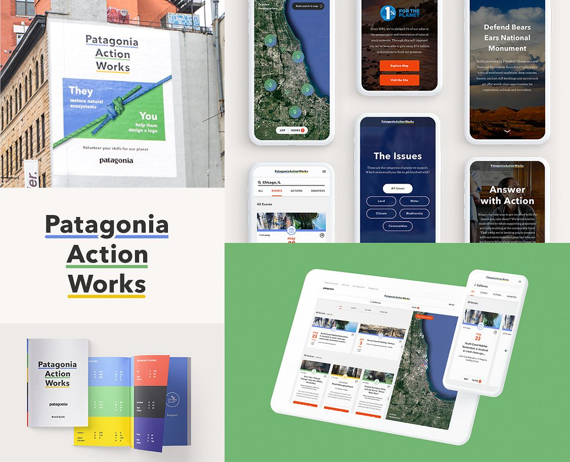 We branded Patagonia Action Works and built, launched and marketed their digital consumer platform