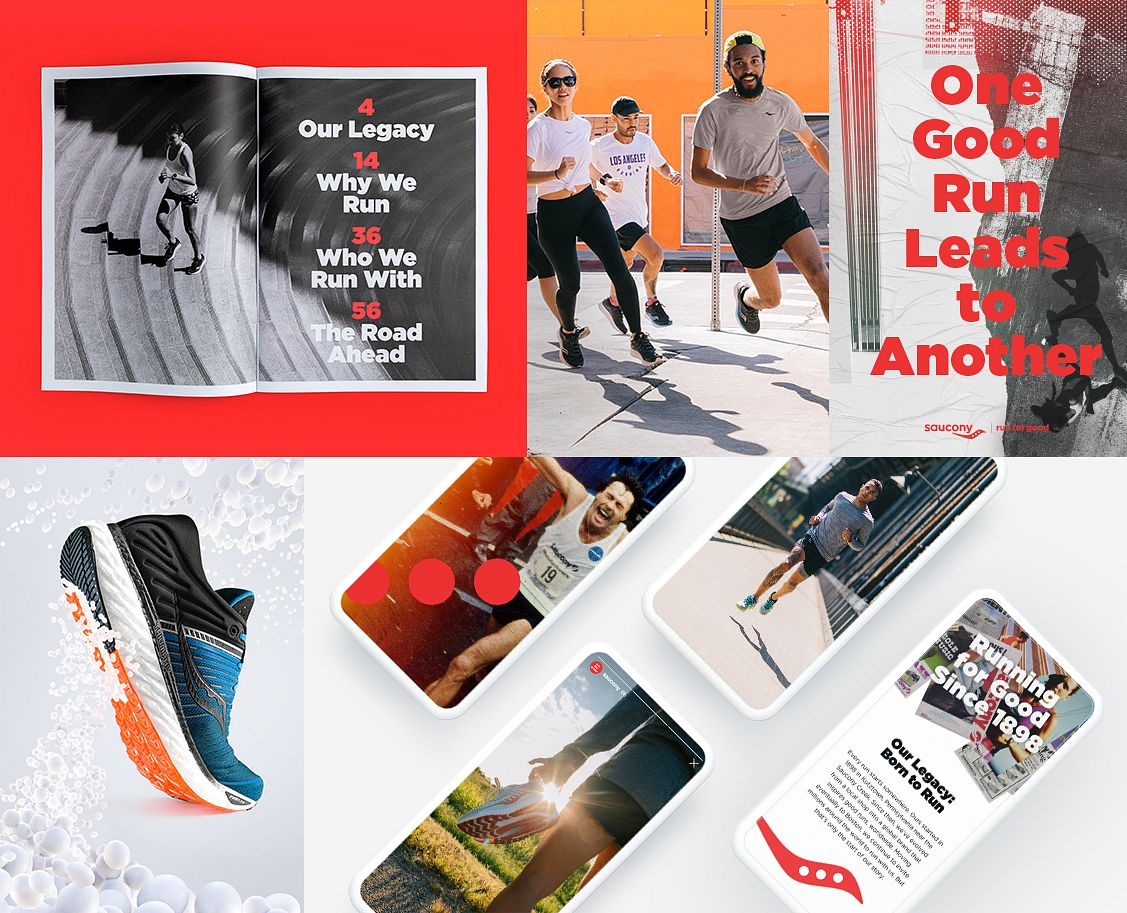 "The ""Run for Good"" rebrand positions Saucony as the pacesetters of goodness in the running world."