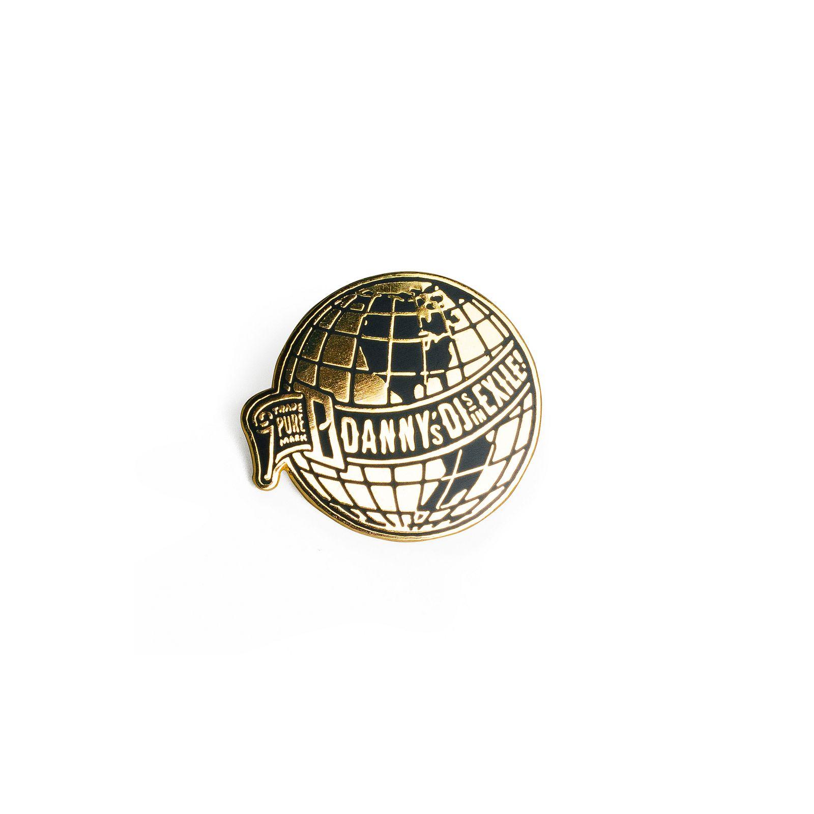 Danny's DJs in Exile Globe Pin