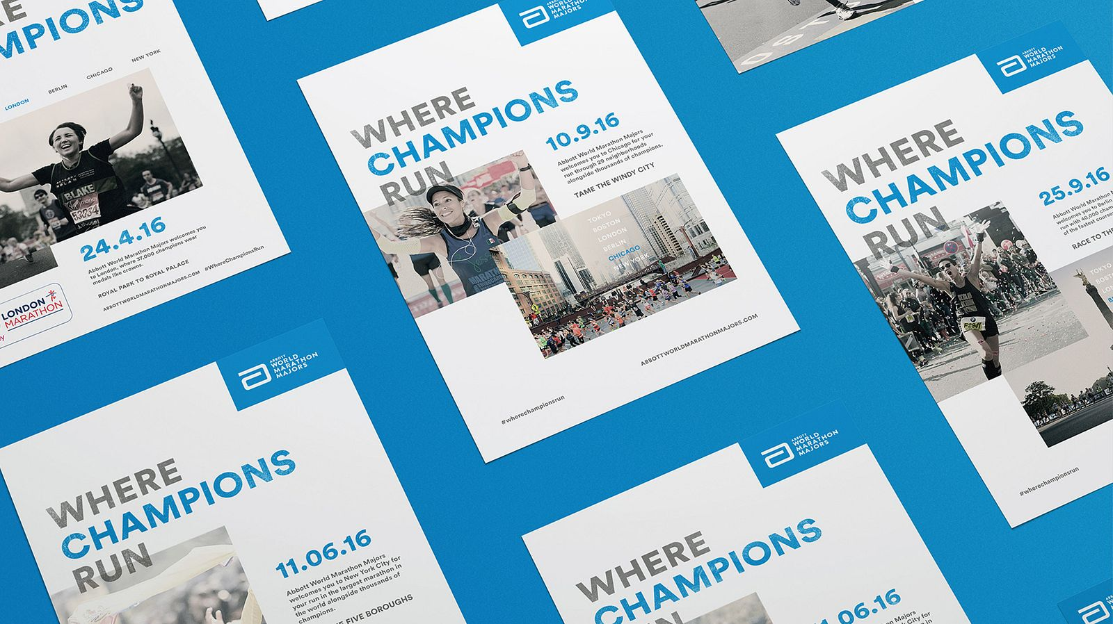 Where Champions Run - Ad Mockup
