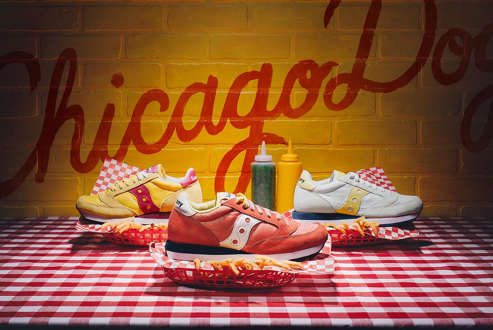 Saucony Chicago HotDog Concept Photoshoot