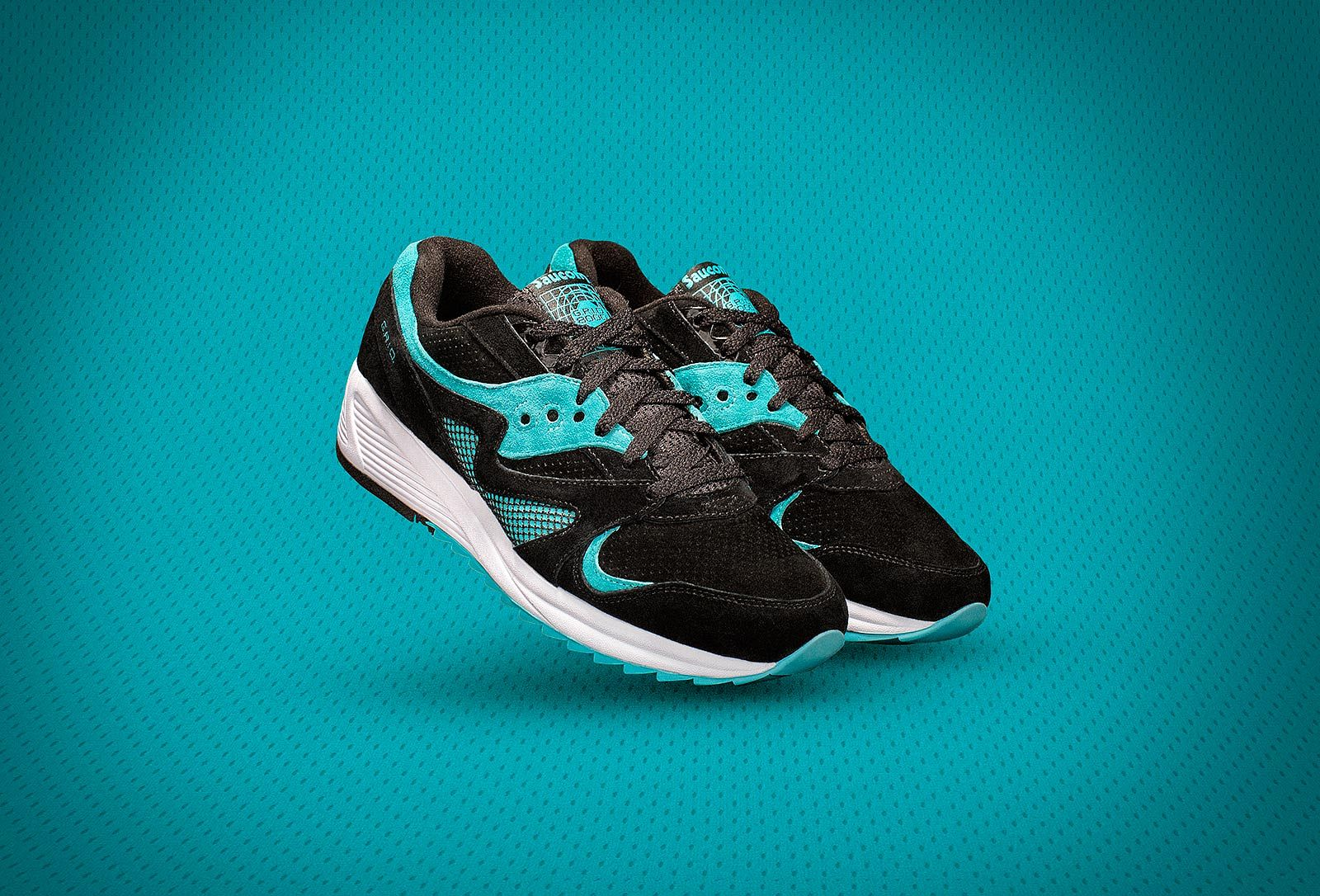 Saucony Teal Shoe Product Photography