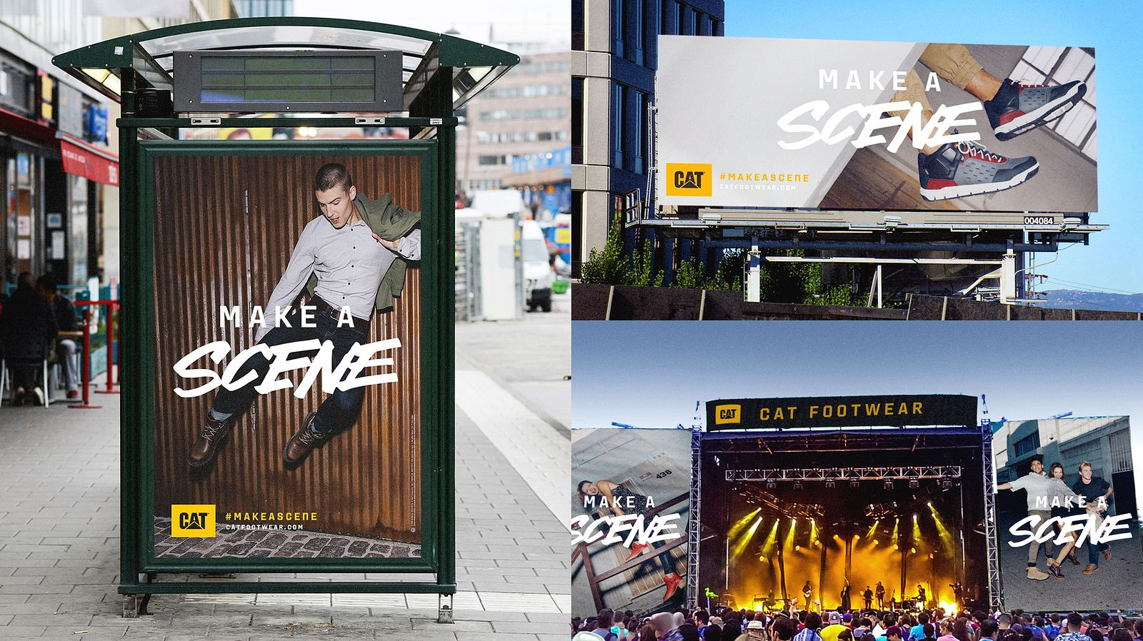 "Cat Footwear's ""#MakeAScene"" campaign presence in the wild – concept by Someoddpilot"
