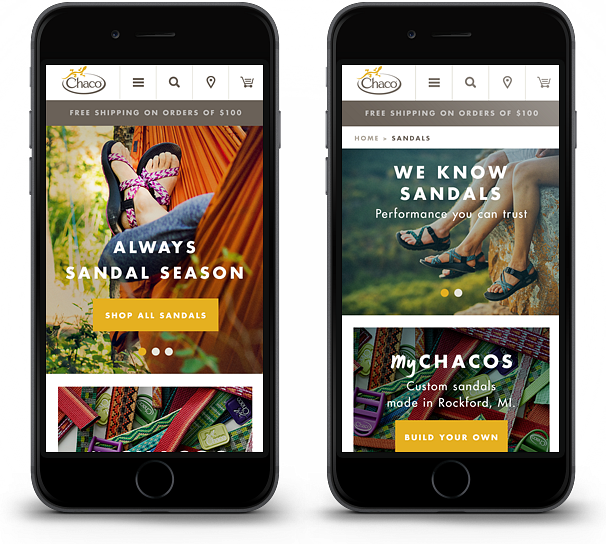 Chaco Website Mobile