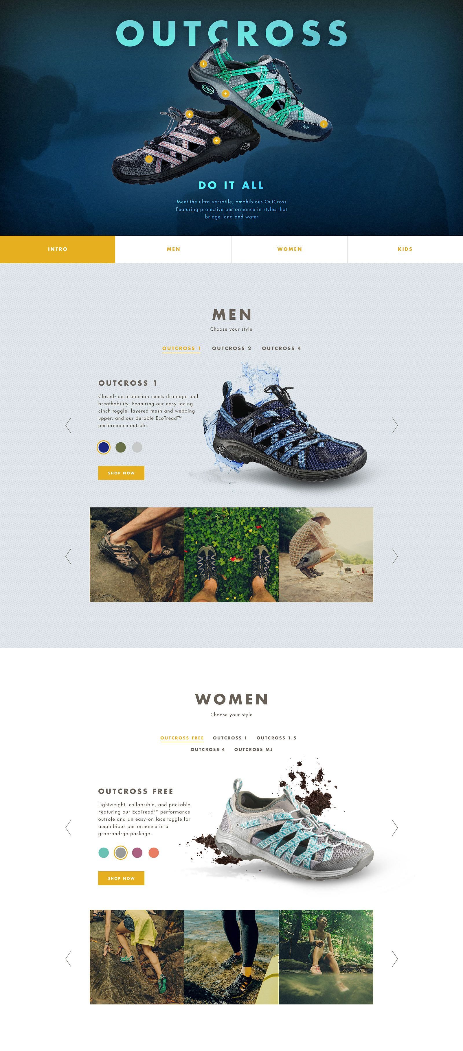 Chacos Outcross Desktop Site