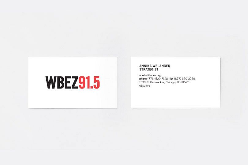 WBEZ Business Cards