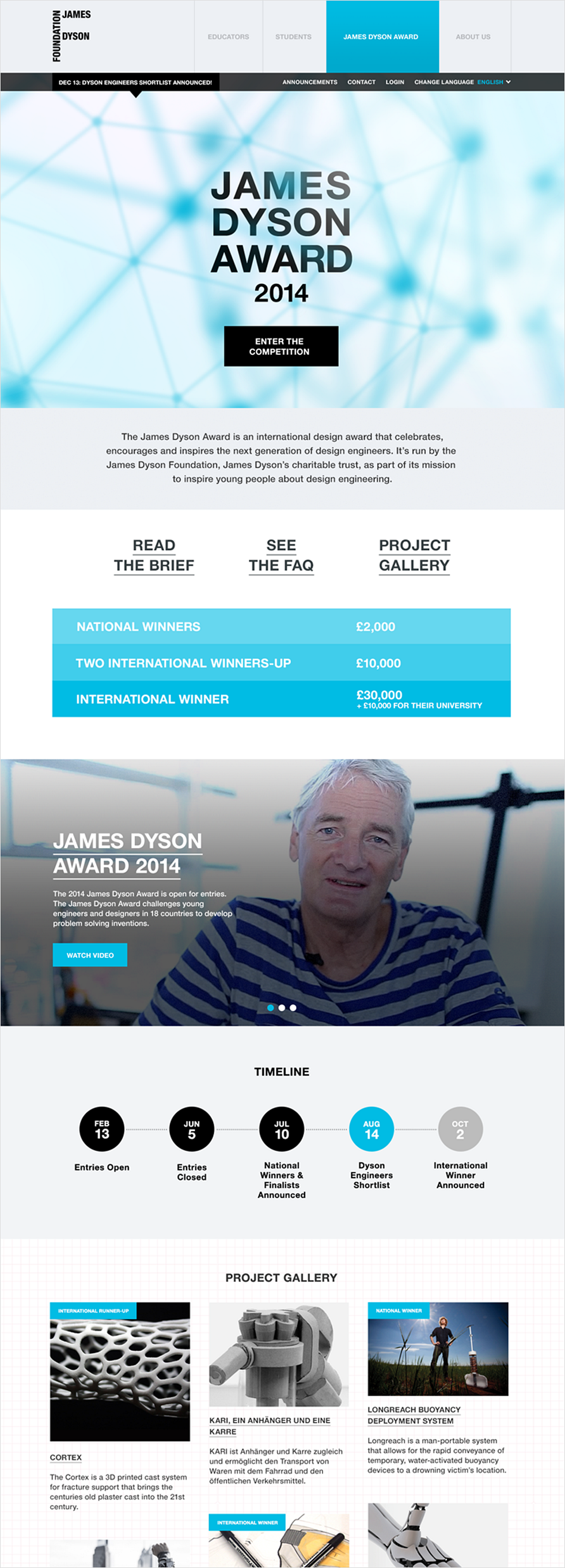 James Dyson Awards Homepage