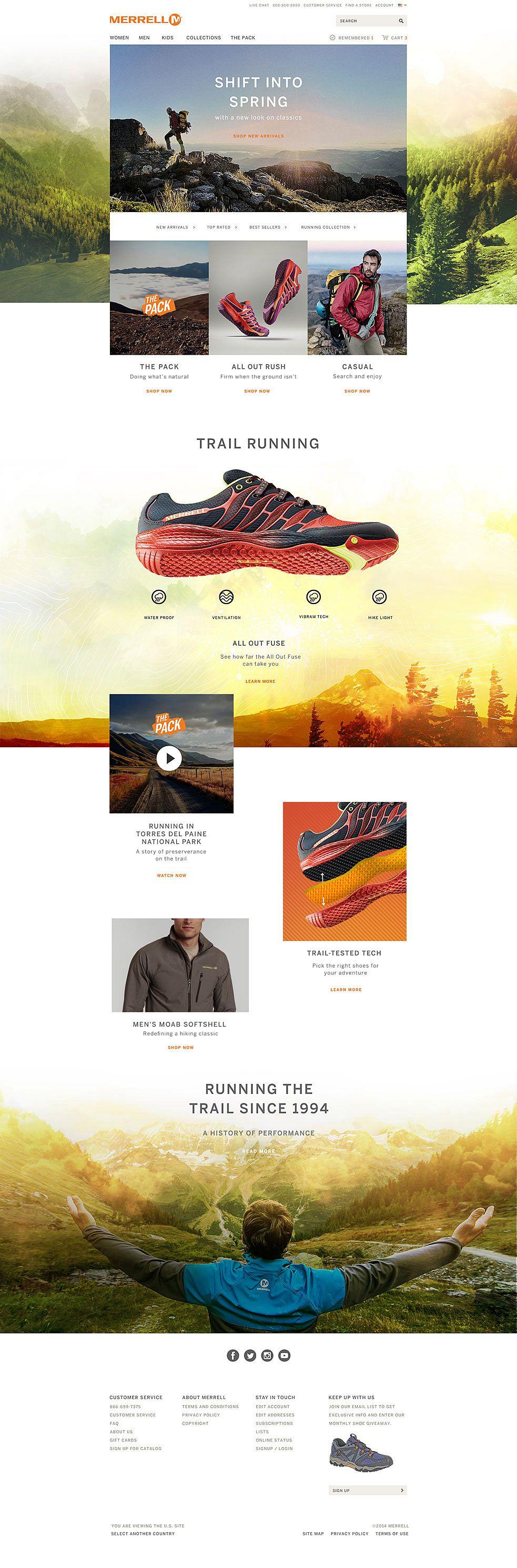 Merrell Homepage