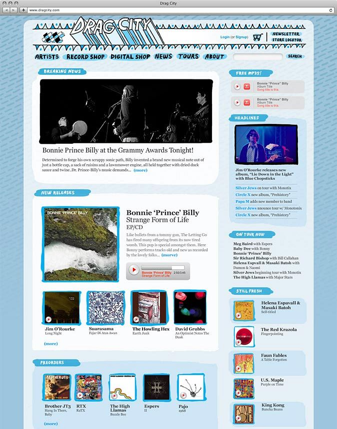 Drag City Website