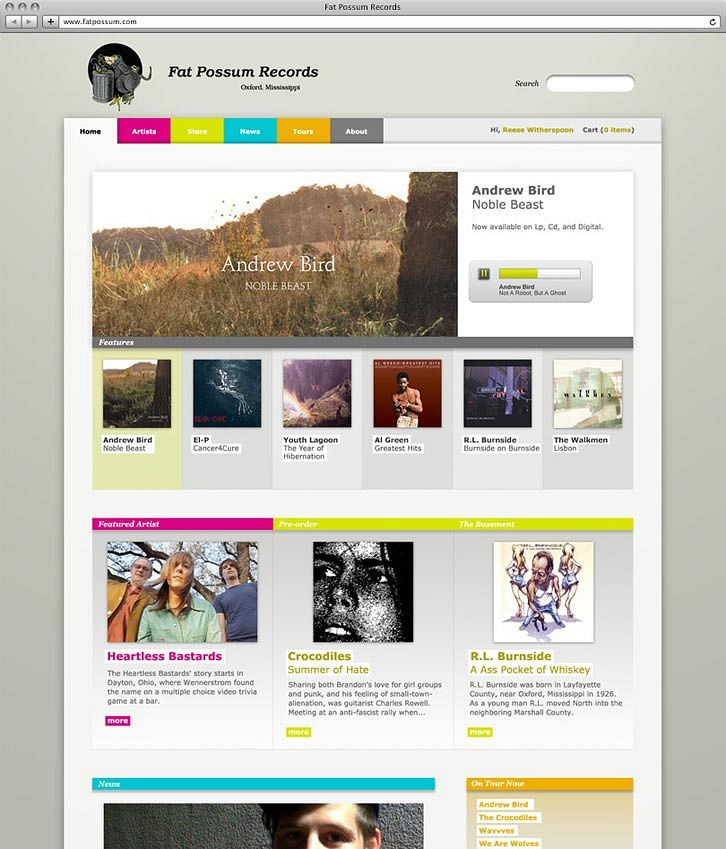 Fat Possum Records Website