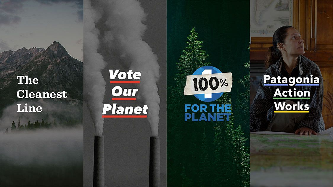 The Cleanest Line, Vote Our Planet, 100% For the Planet, and Patagonia Action Works– Patagonia's activist ecosystem, branded and built with Someoddpilot