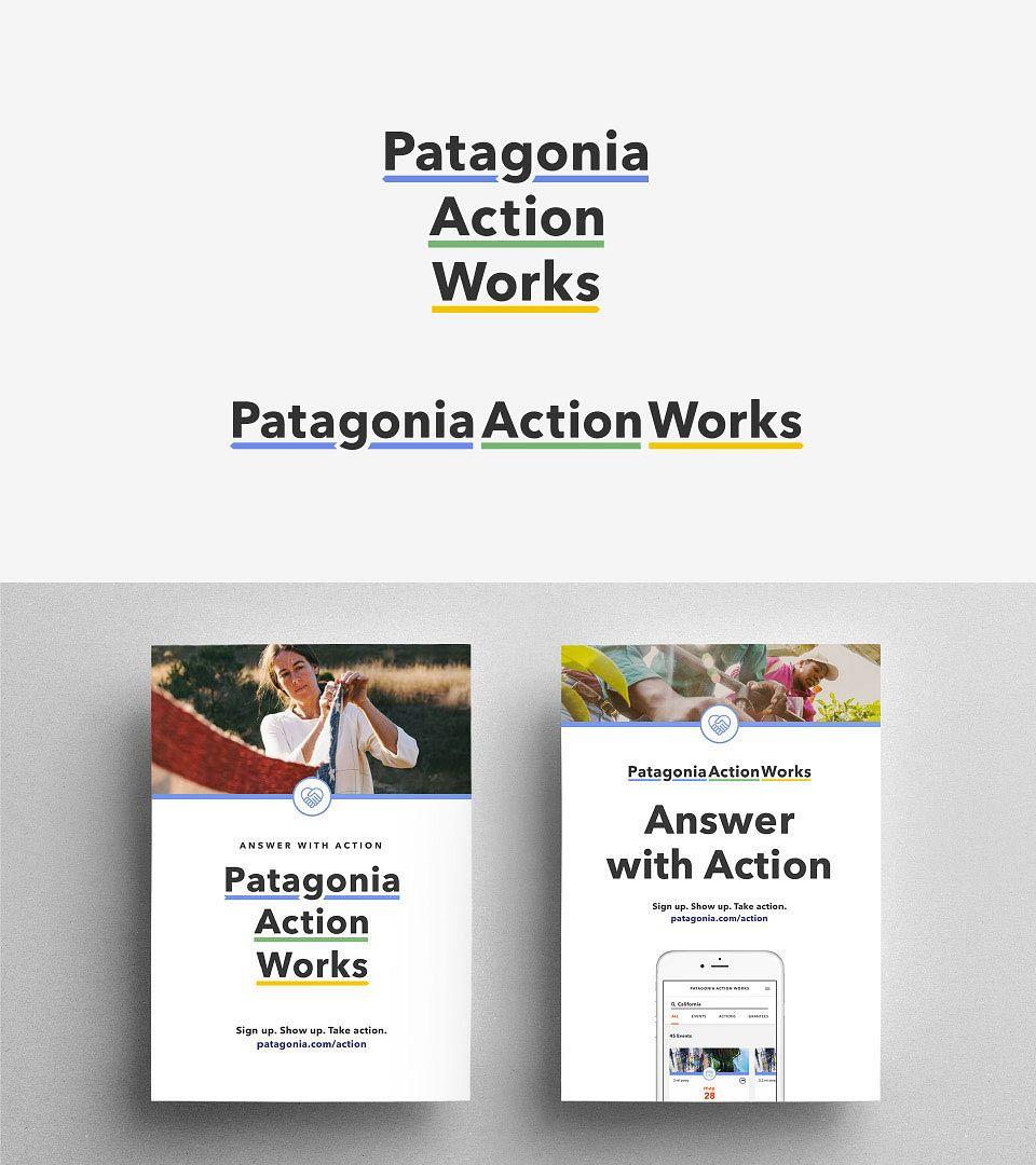 Patagonia Action Works branding