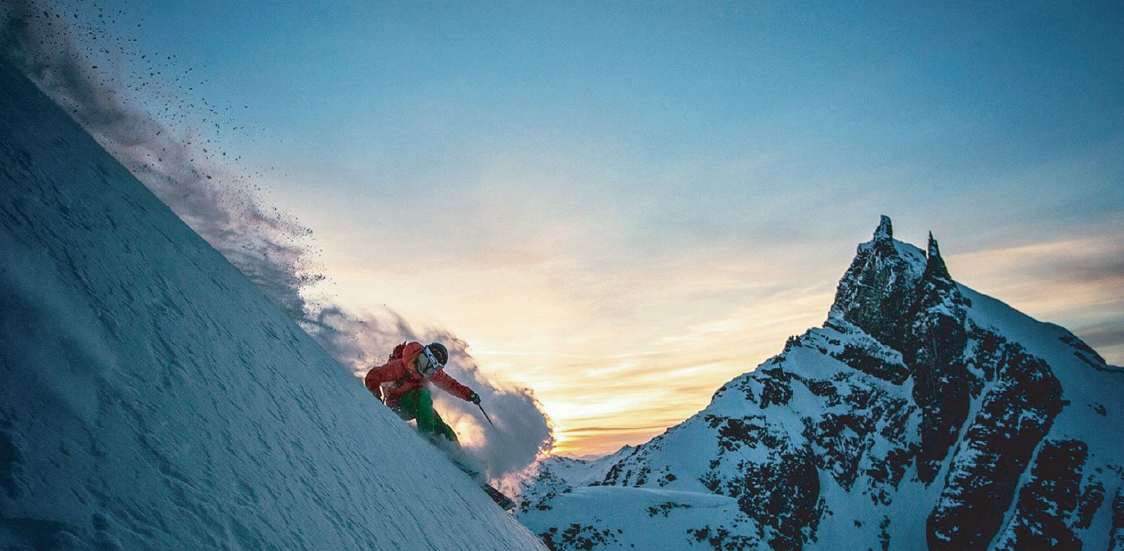 The Cleanest Line - A person skiing down a mountain.