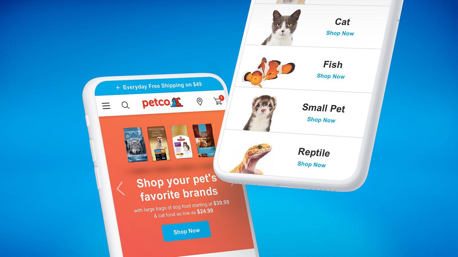 Petco mobile design