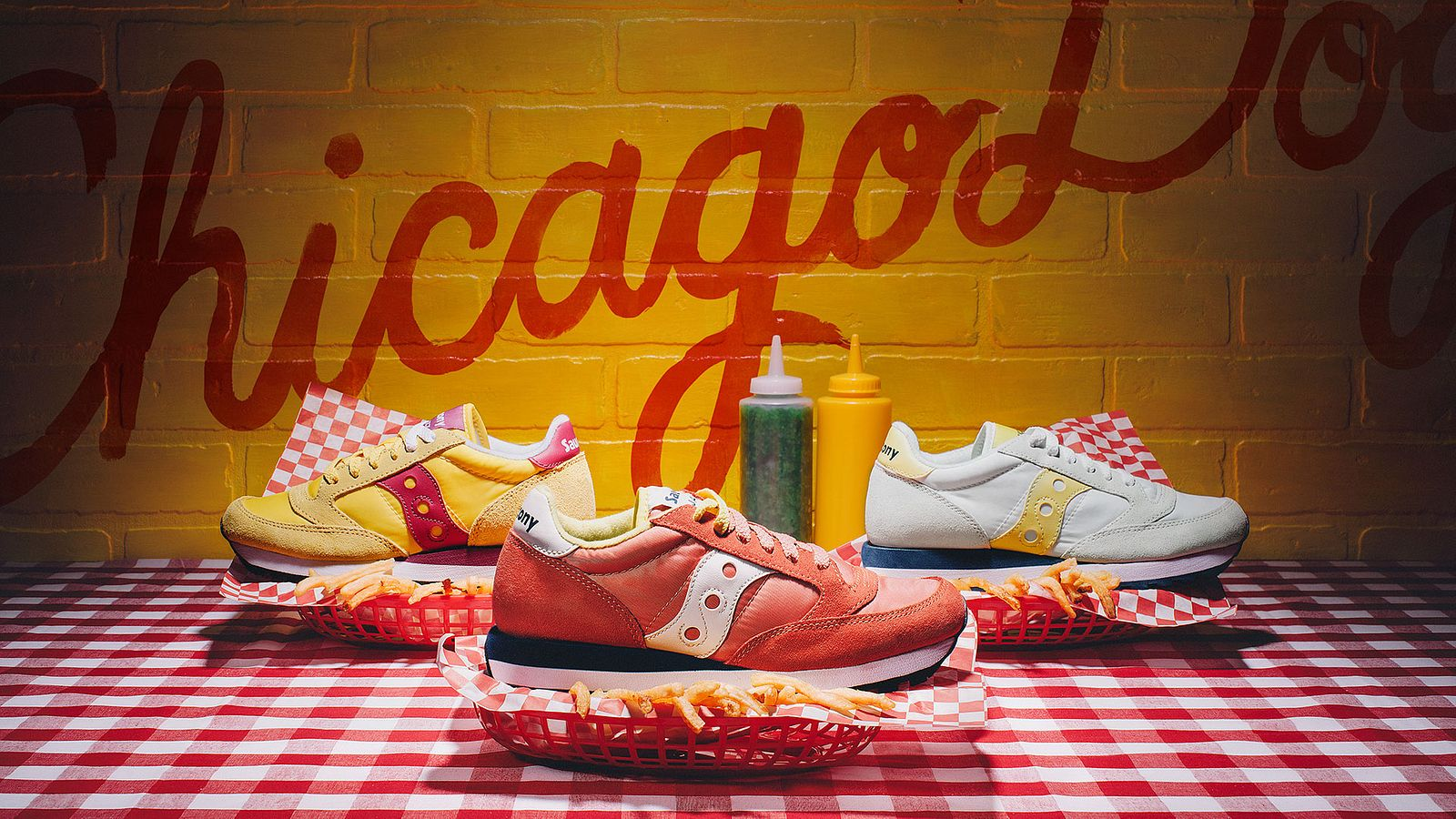 Chicago Dog shoe spread for Saucony Originals, styled by Someoddpilot