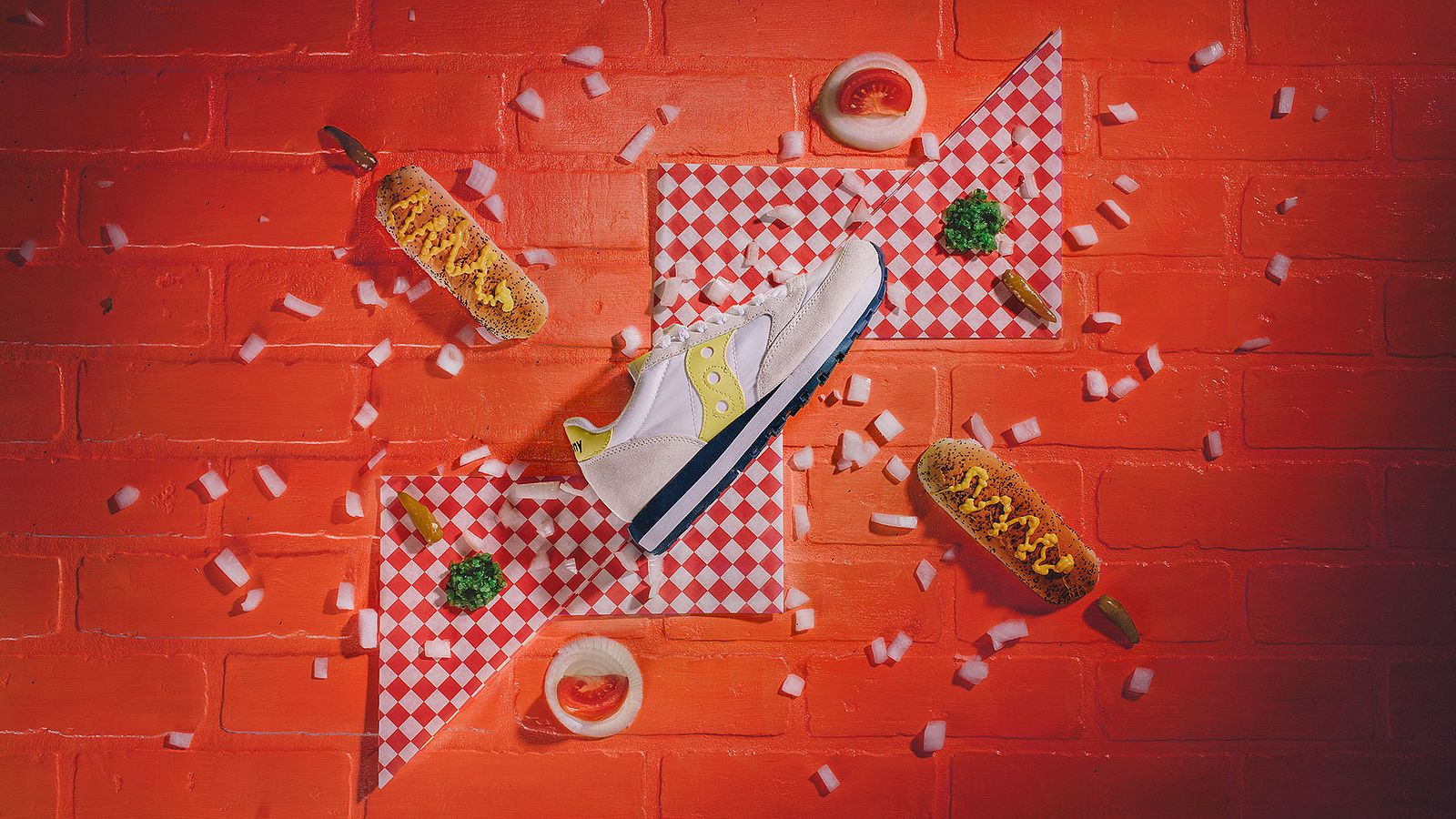 Chicago Dog shoe for Saucony Originals, styled by Someoddpilot