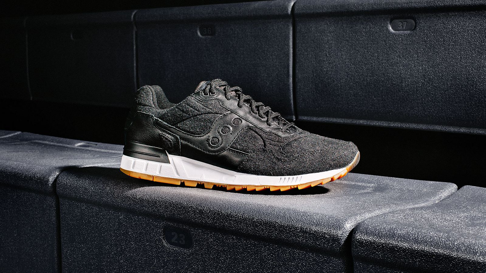Letterman shoe for Saucony Originals, styled by Someoddpilot