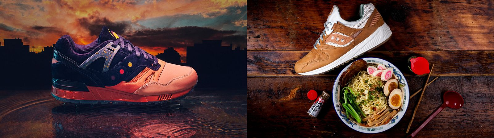 Summer Nights and Ramen shoes for Saucony Originals, styled by Someoddpilot