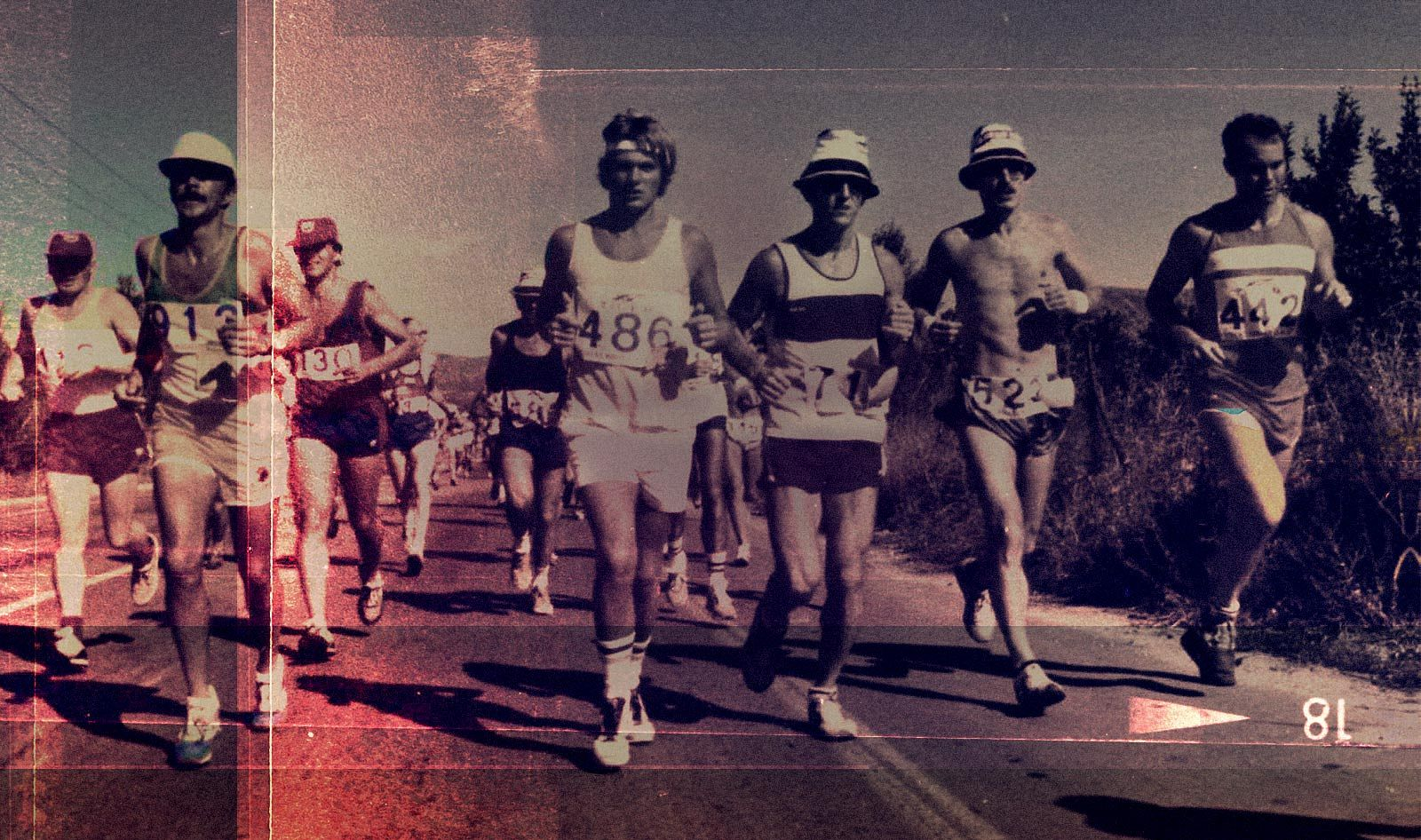 Vintage Photograph of Runners