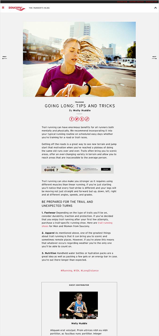 Saucony Blog Site