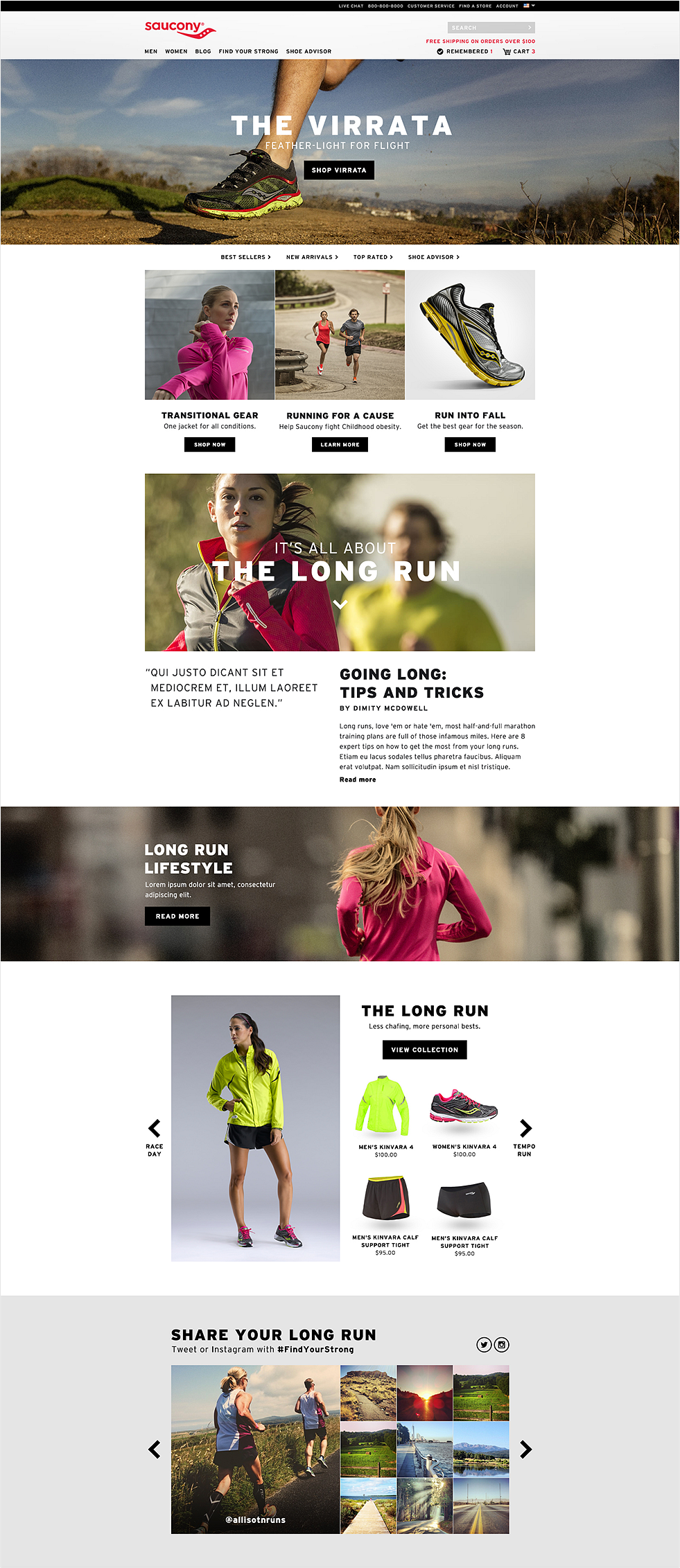 Saucony Homepage