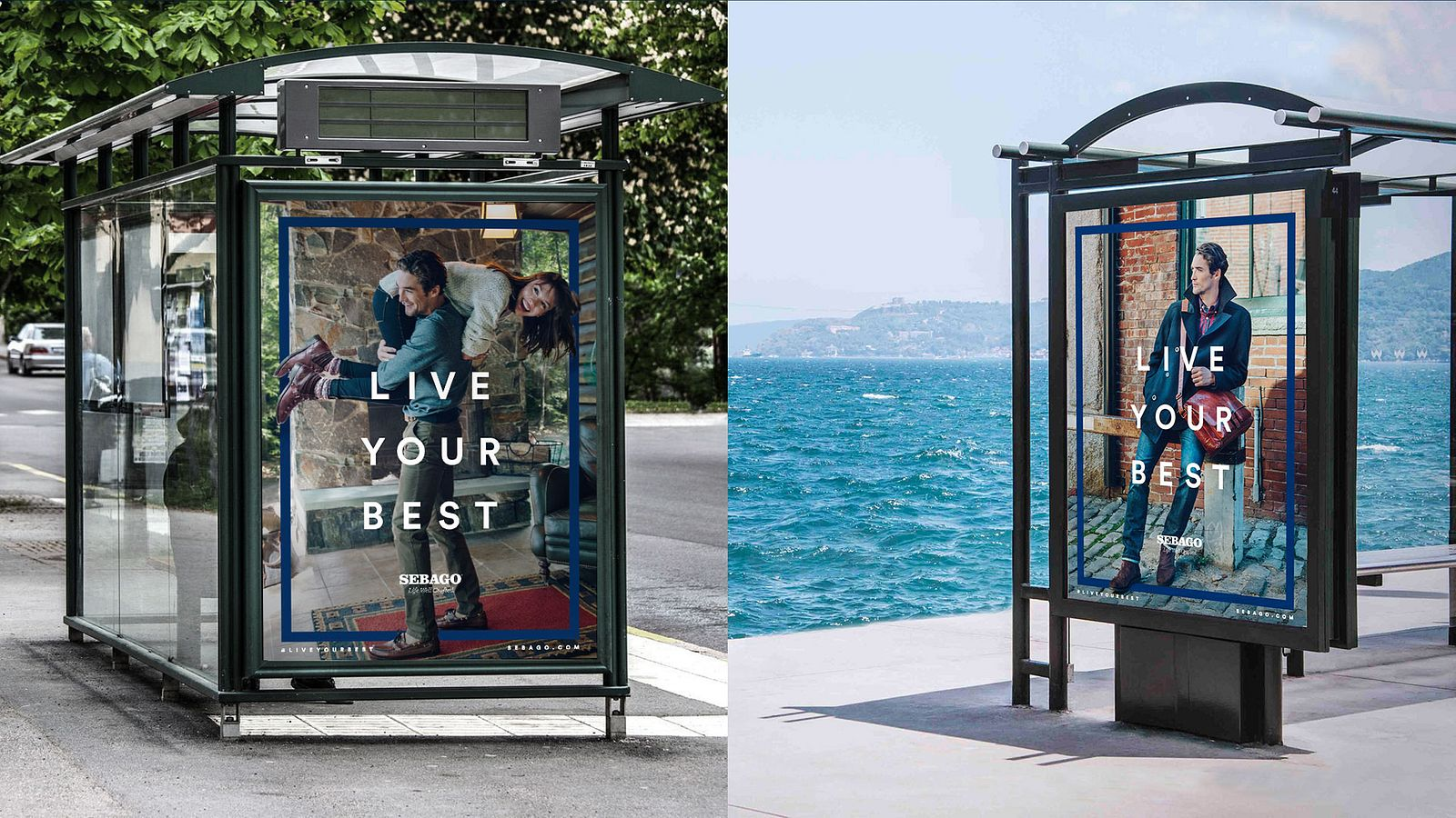 Sebago Out-Of-Home ads, designed by Someoddpilot