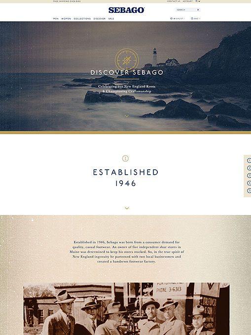 Sebago discovery page, designed by Someoddpilot