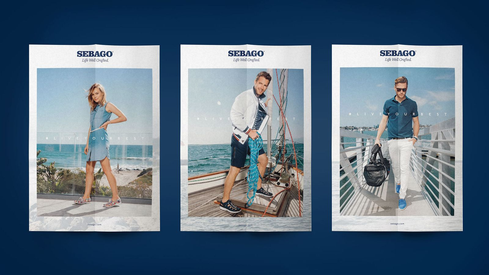 Sebago print ads, designed by Someoddpilot
