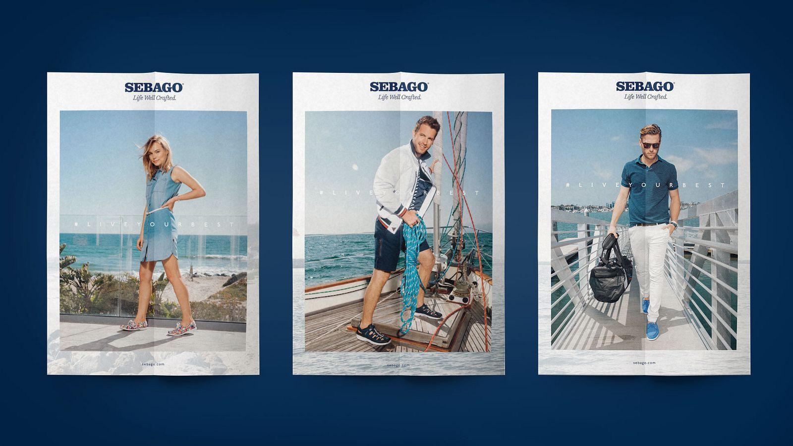 Sebago print ads, designed by Someoddpilot