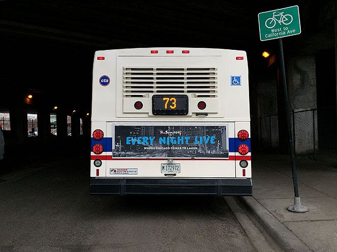 Second City Bus Advertisement
