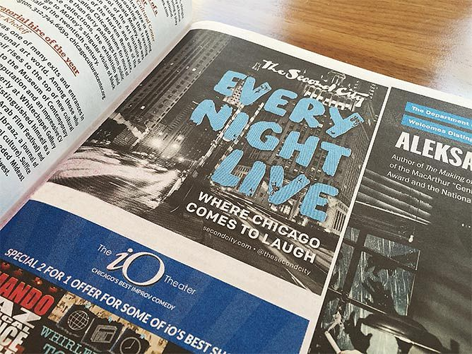 Second City Advertisement in Newspaper
