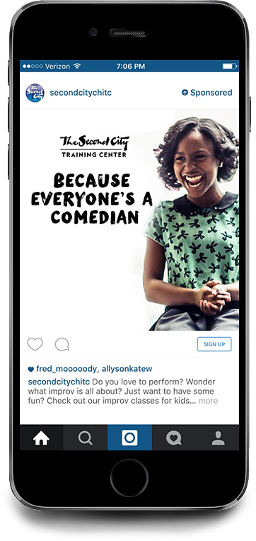Second City Instagram Advertisement