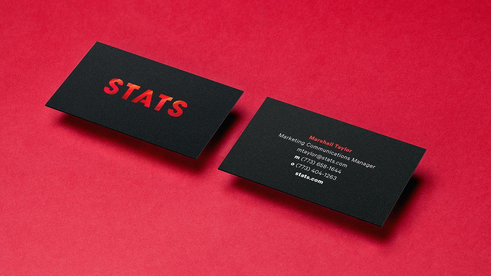 STATS business cards, designed and produced by Someoddpilot